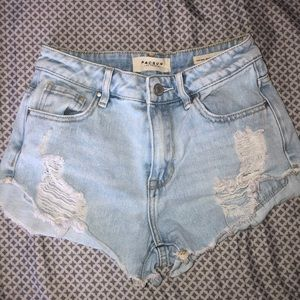Size 23 jean shorts from pacsun